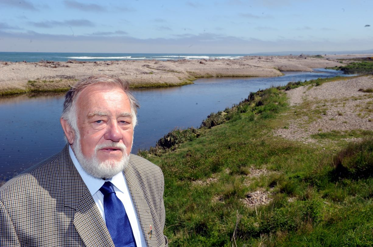 Jim Mackie is eager to see more walkers on the path at the mouth of the River Spey.