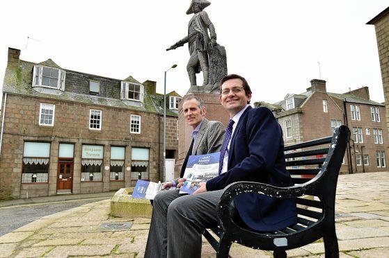 Bid chairman John Pascoe and manager Iain Sutherland.