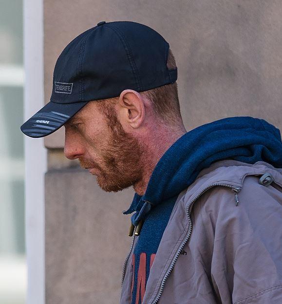 Kevin Davidson leaving Elgin Sheriff Court.