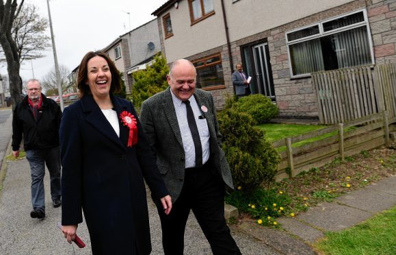 Happier times: Kezia Dugdale and Barney Crockett on the election  trail