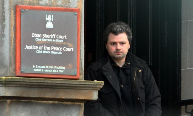 LIAM MARTIN WHO PLEAD GUILTY HAVING INDECENT IMAGES OF CHILDREN ON COMPUTER OBAN SHERIFF COURT OBAN PIC KEVIN MCGLYNN