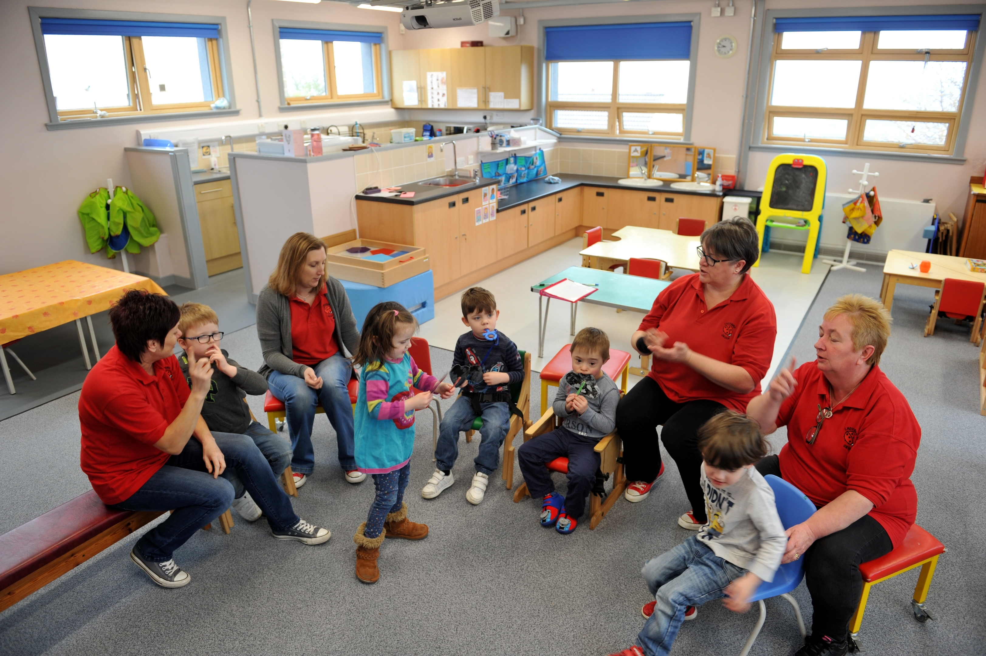 Ladybird Nursery, Lossiemouth, inside their new premises at St Gerardine's School, Lossiemouth.