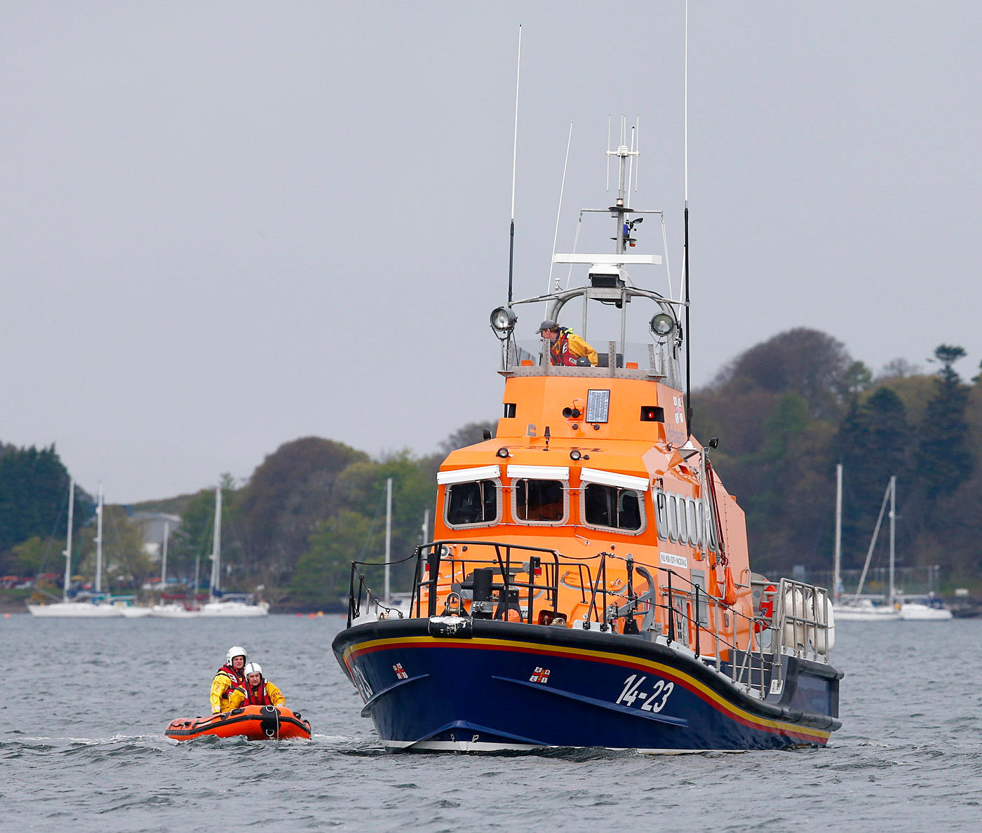 Oban lifeboat in action.