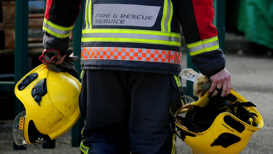 Firefighters have been tackling the flames in a forest in Moray