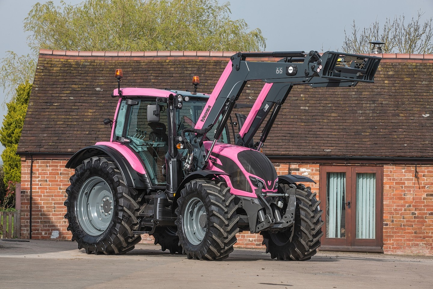The pink Valtra tractor
