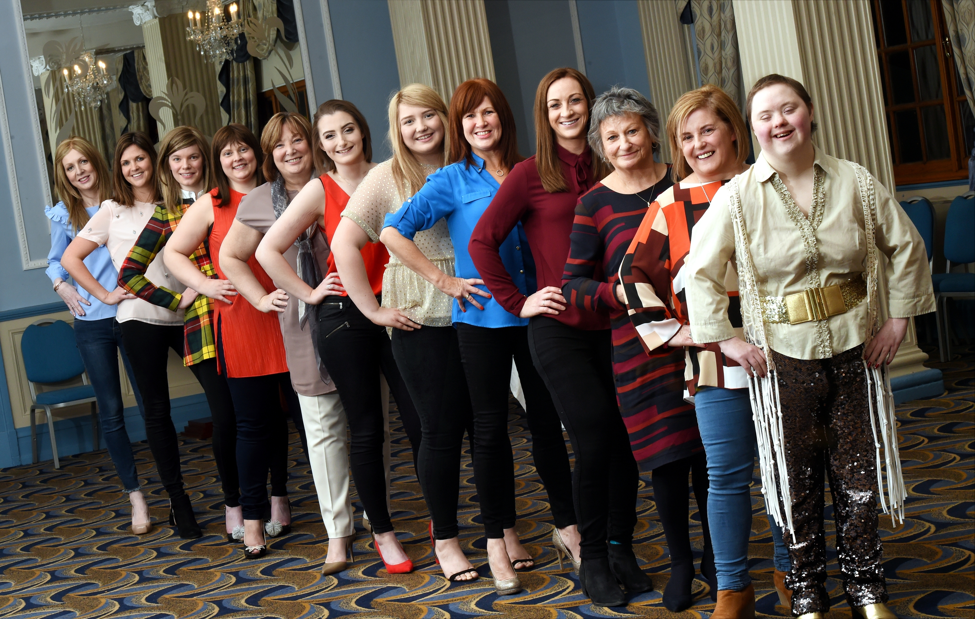 Rowena Mingo at the front with the rest of the Courage models.