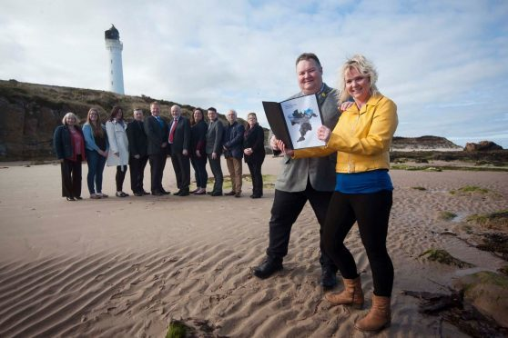 The SNP group launched their manifesto at Lossiemouth beach yesterday.