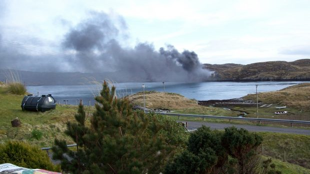 The fire at the £4.5million factory on the isle of Scalpay severely damaged the building at the end of April.