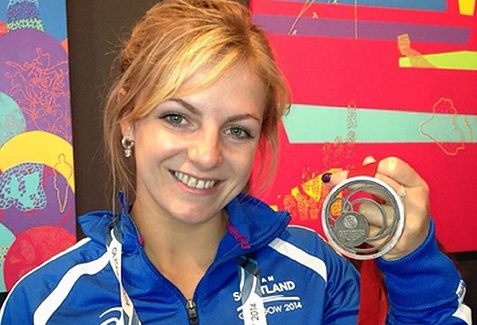 Stephanie Inglis won a silver medal at the Commonwealth Games