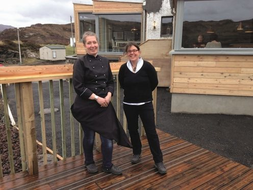 Kylesku Hotel owners Tanja Lister and Sonia Virechauveix.