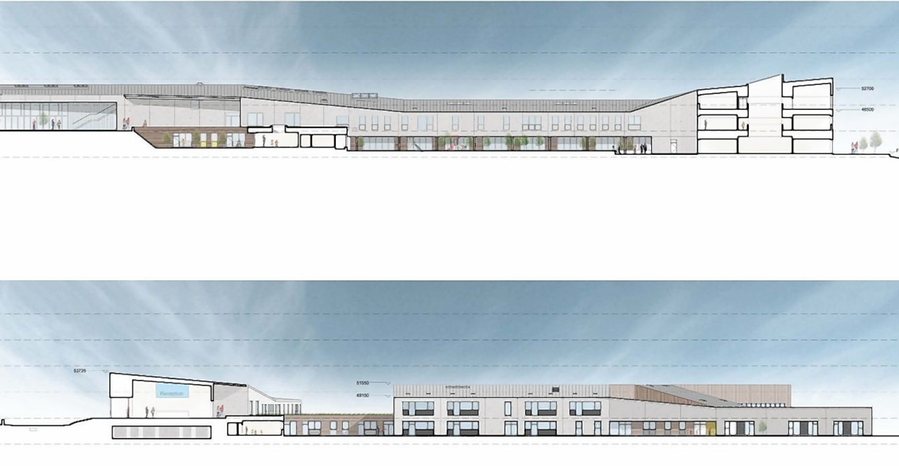 Plans for the new campus at Tain