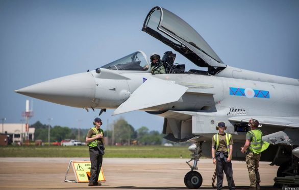 Typhoon crews from 1 (F) Squadron at RAF Lossiemouth have joined American and French colleagues for the exercise.