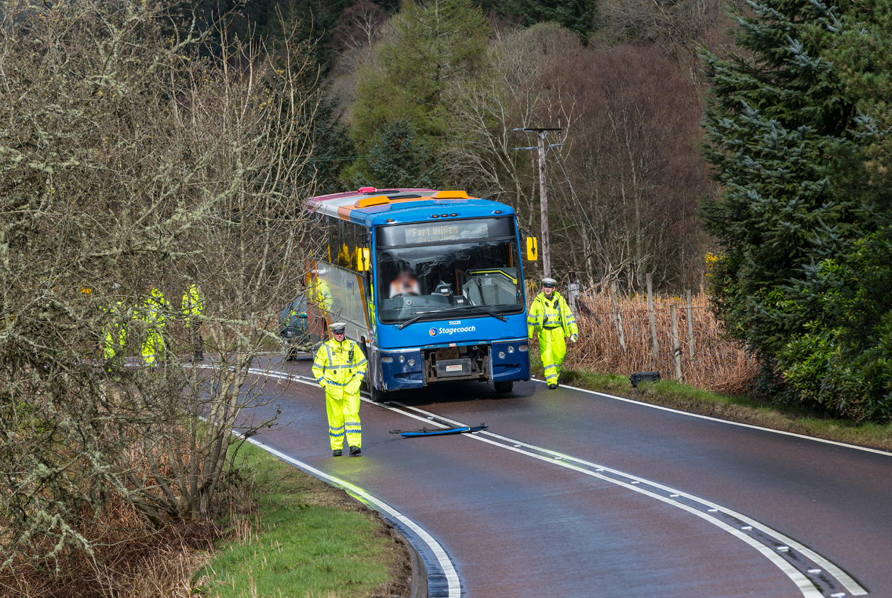 Scene of the crash on the A82