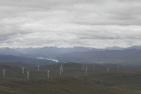 An artist's impression of turbines proposed for Culachy Estate.