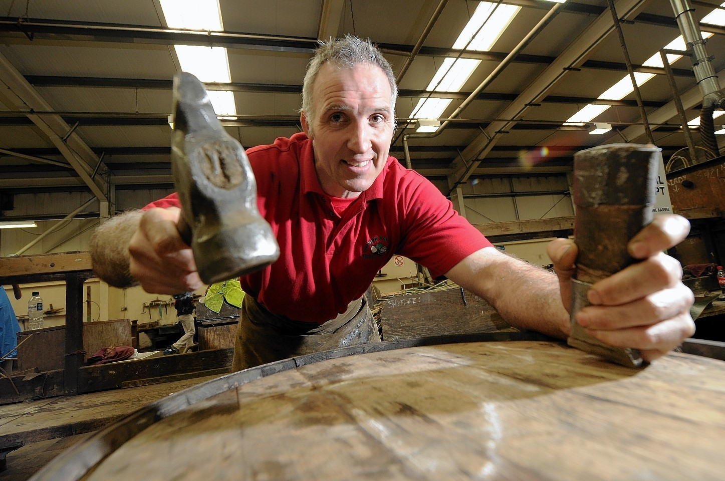 David McKenzie at the Speyside Cooperage, Craigellachie. Pictures and video by Sandy McCook