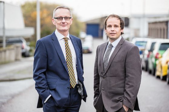 L to R - Andrew Hall, managing director of Jasmine Limited and Danny Cowie, managing director of Jasmine Holdings