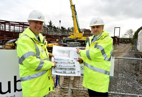 Keith Brown visits the new Inverurie health centre. (Picture: Keith Brown)