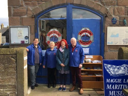 Volunteers who run the Maggie Law Maritime Museum welcomed visitors yesterday as the attraction opened for the season. Pictured L-R Michael Webster, Bridget O'Hare, Marie Carnie and Tom Carnie.