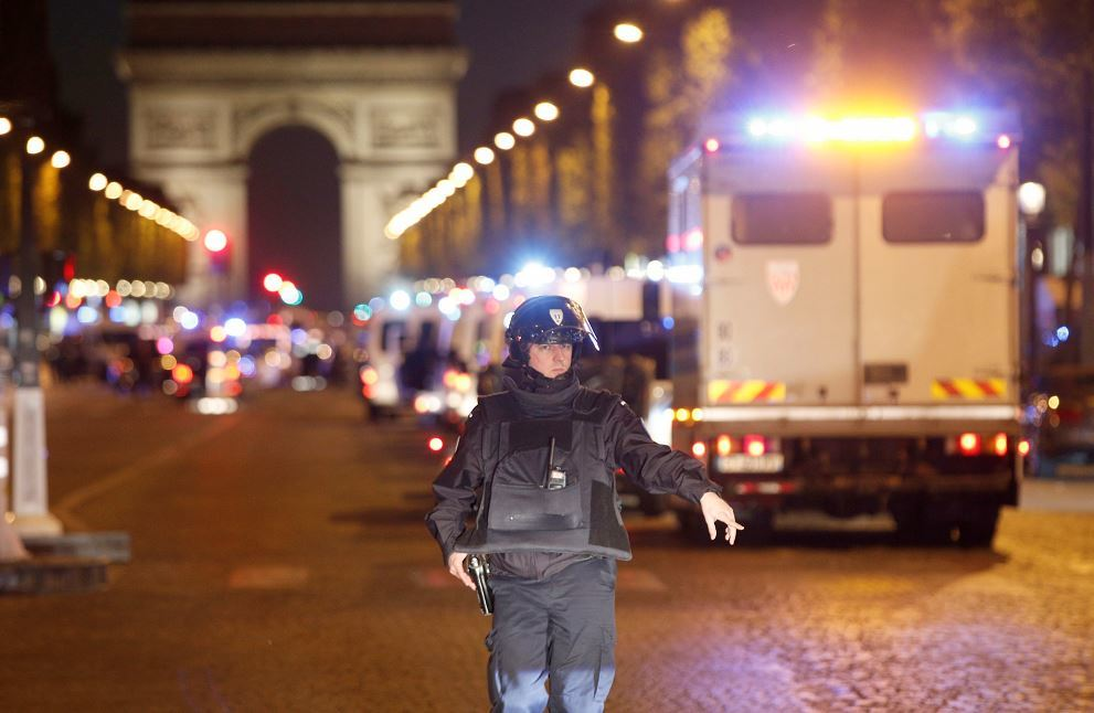 A police officer and gunman are dead following a Paris shooting incident (AP Photo/Thibault Camus)