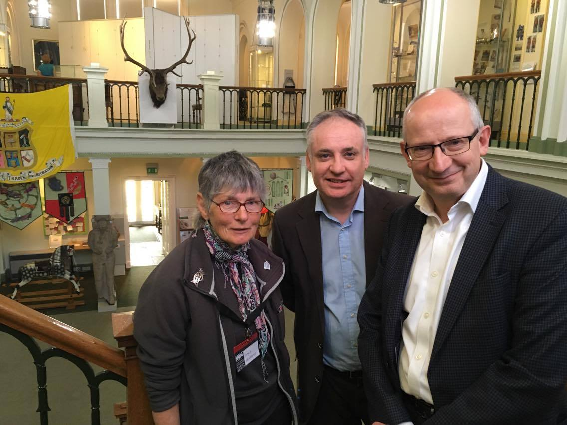 Janet Trythall, Richard Lochhead and Sir John Leighton
