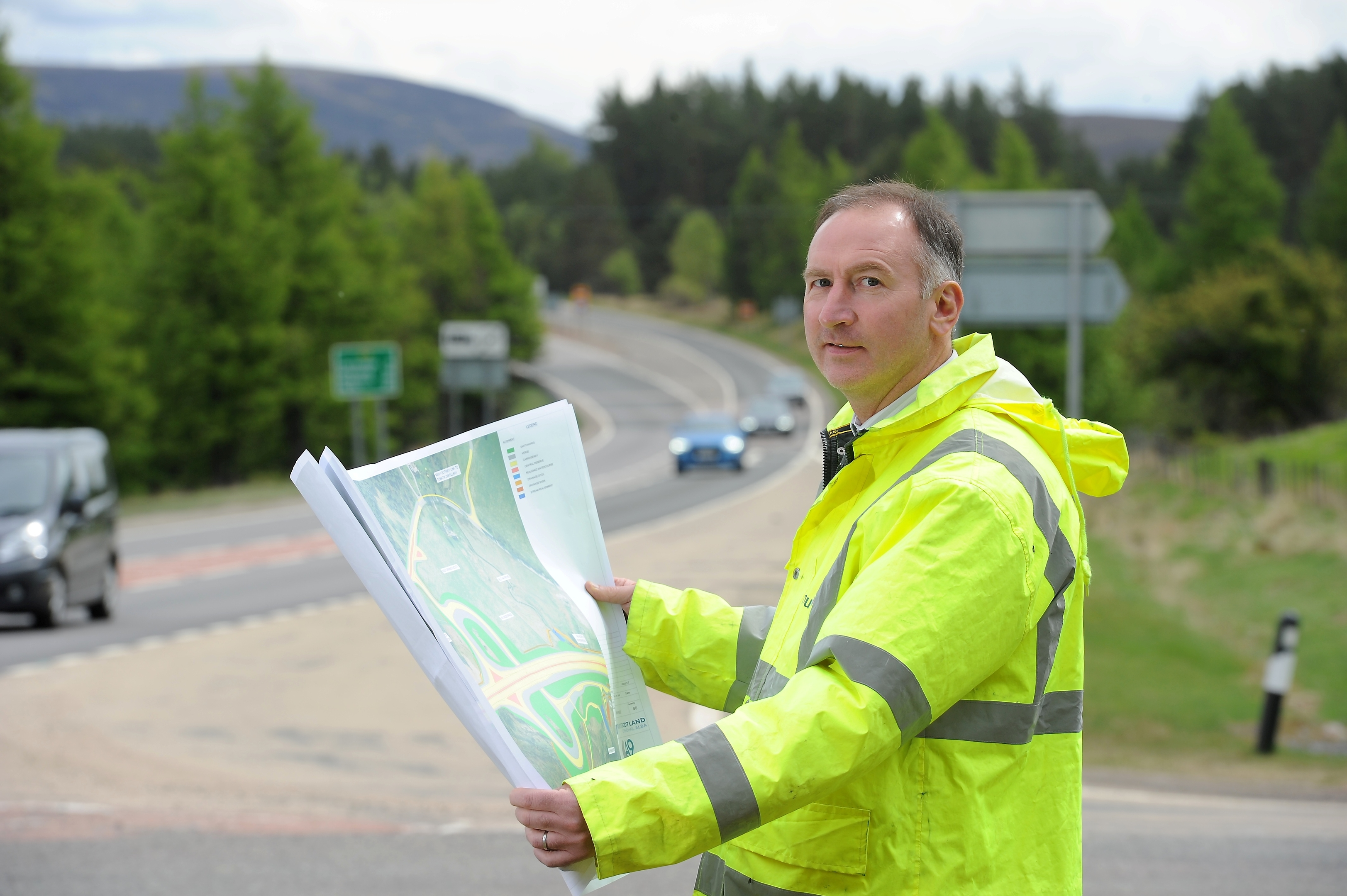 Steve Byer, Project Manager for the Tomatin to Moy section of the new A9