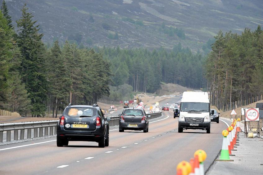 The Kincraig to Dalraddy section of the A9 dualling programme.