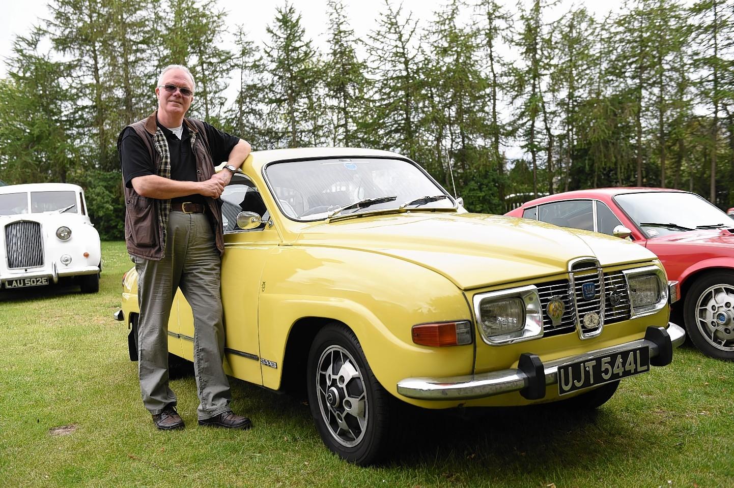 Derek Darnell owner of the headline car a Saab 96
