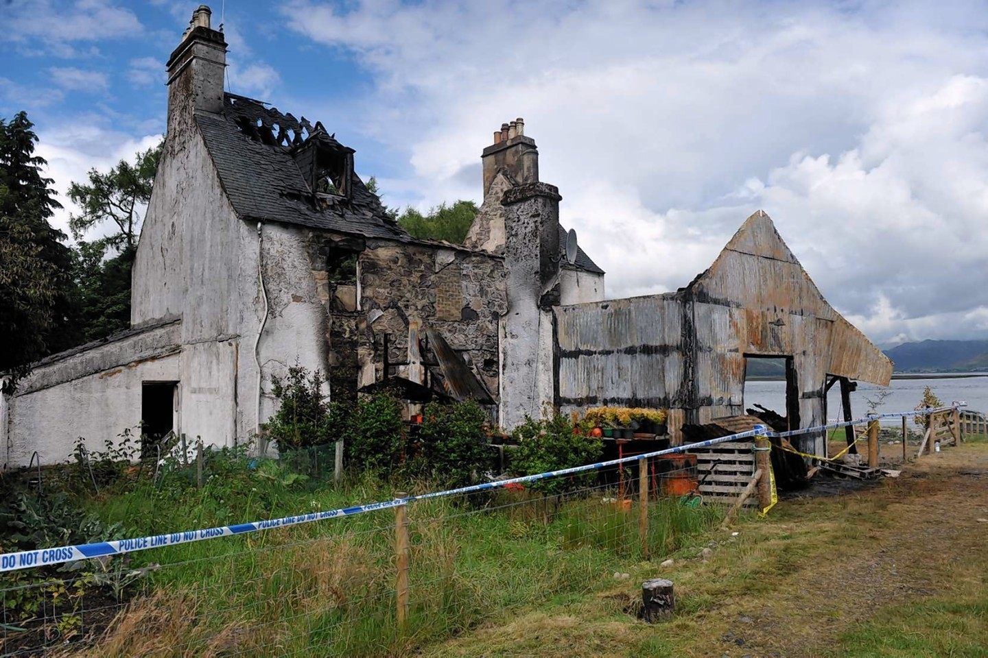 Ardintoul House after the fire