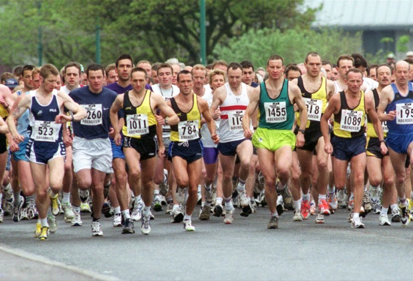 The start of the race in 2001