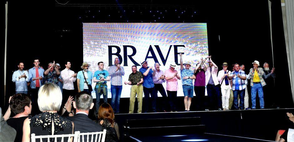 The Brave men taking part