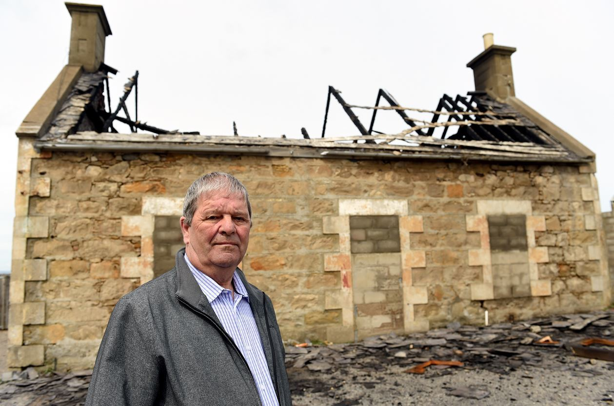 Buckie councillor Gordon Cowie wants more done to keep youngsters away from the abandoned shipyard.
