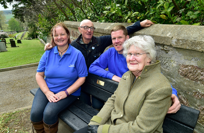 Friends of Turriff Cemetery members Morag Lightning, Brian McAllister, Fraser Watson and Mirren Watson.