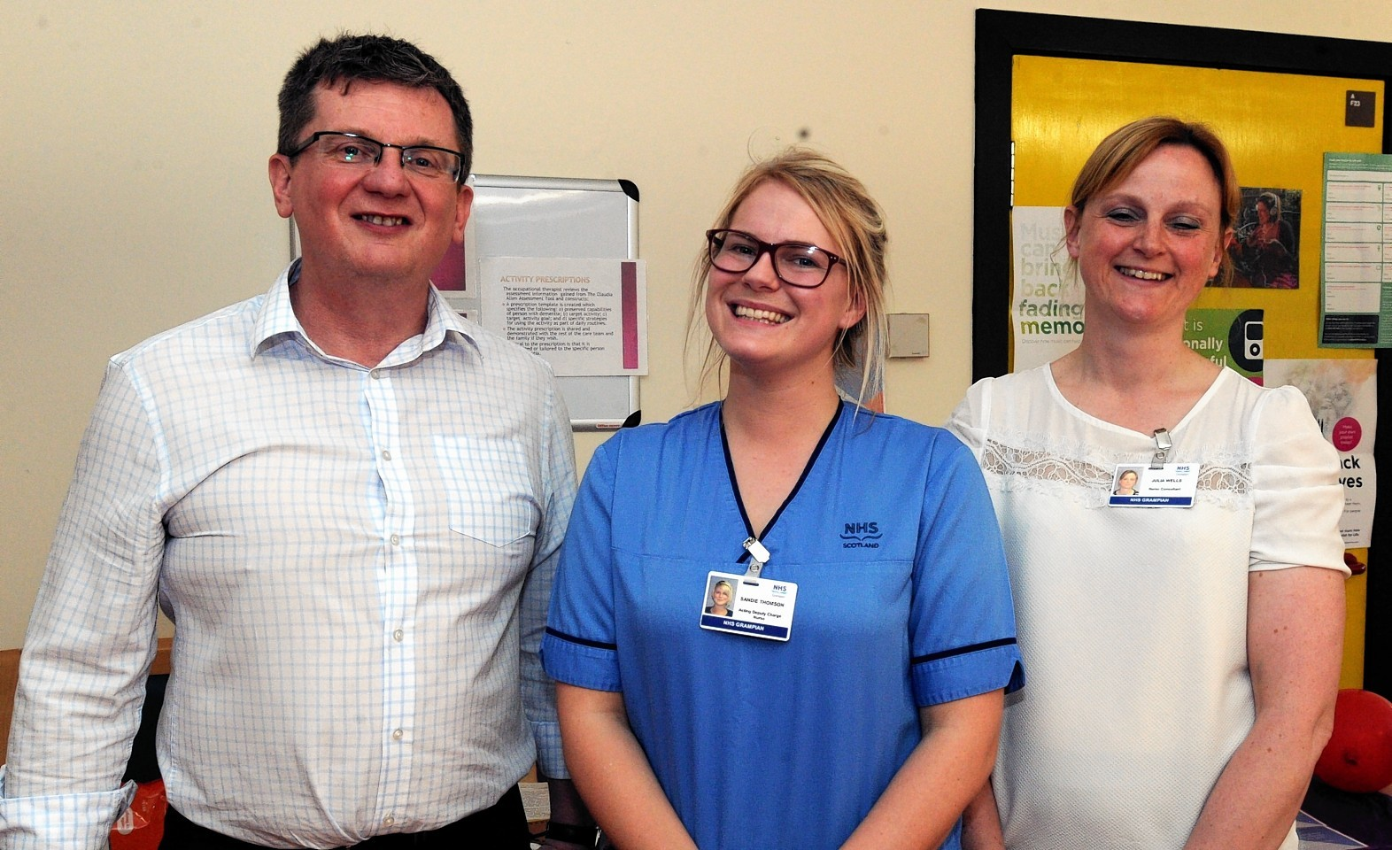 L-R: Derek Latto, nurse manager, Sandie Thomson, deputy charge nurse and Julia Wells, nurse consultant.