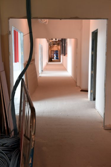 A view along one of the corridors.