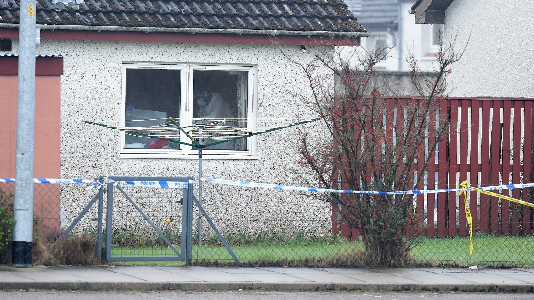 The scene at Kintail Court