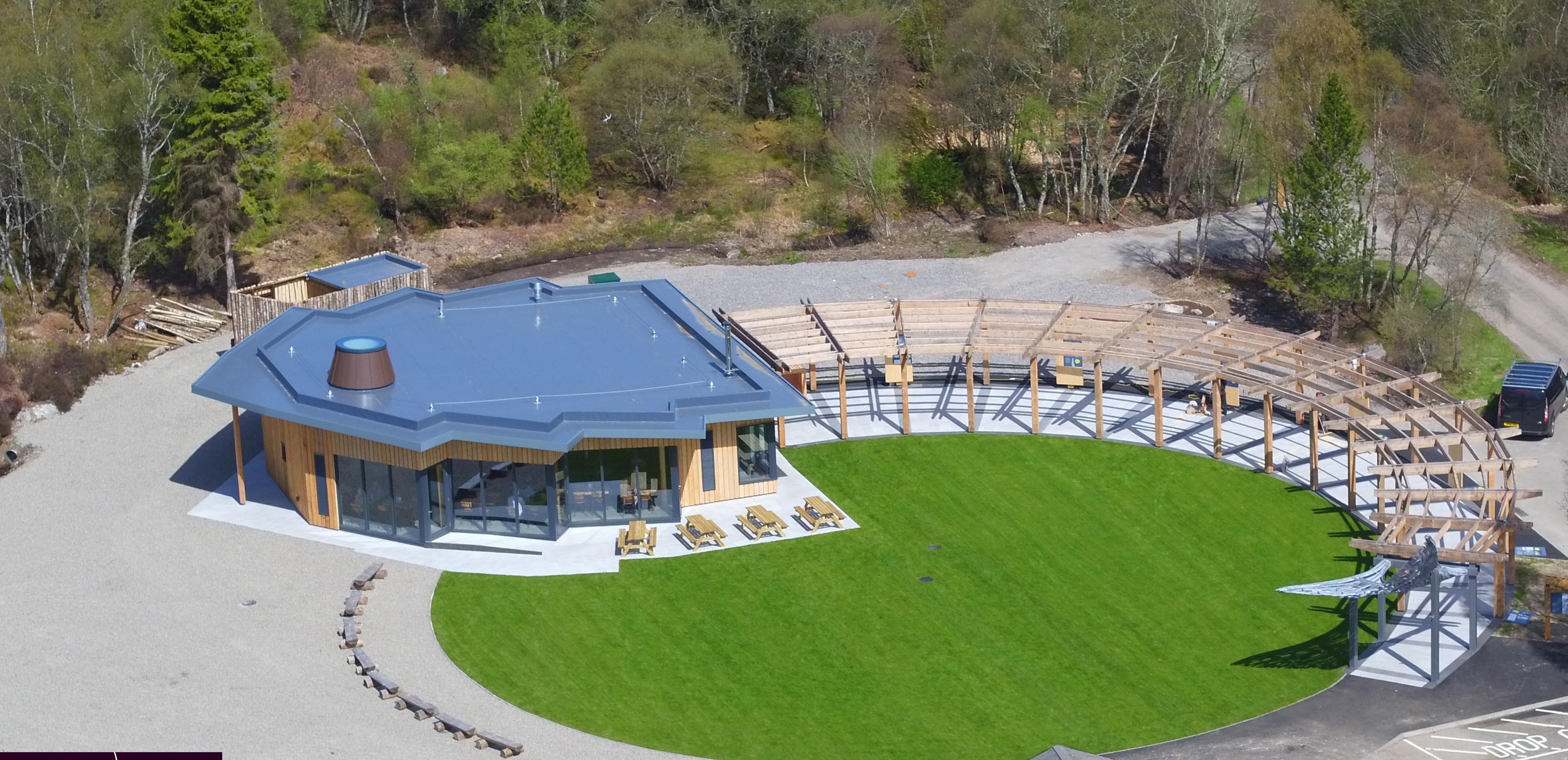 The new Falls of Shin visitor centre