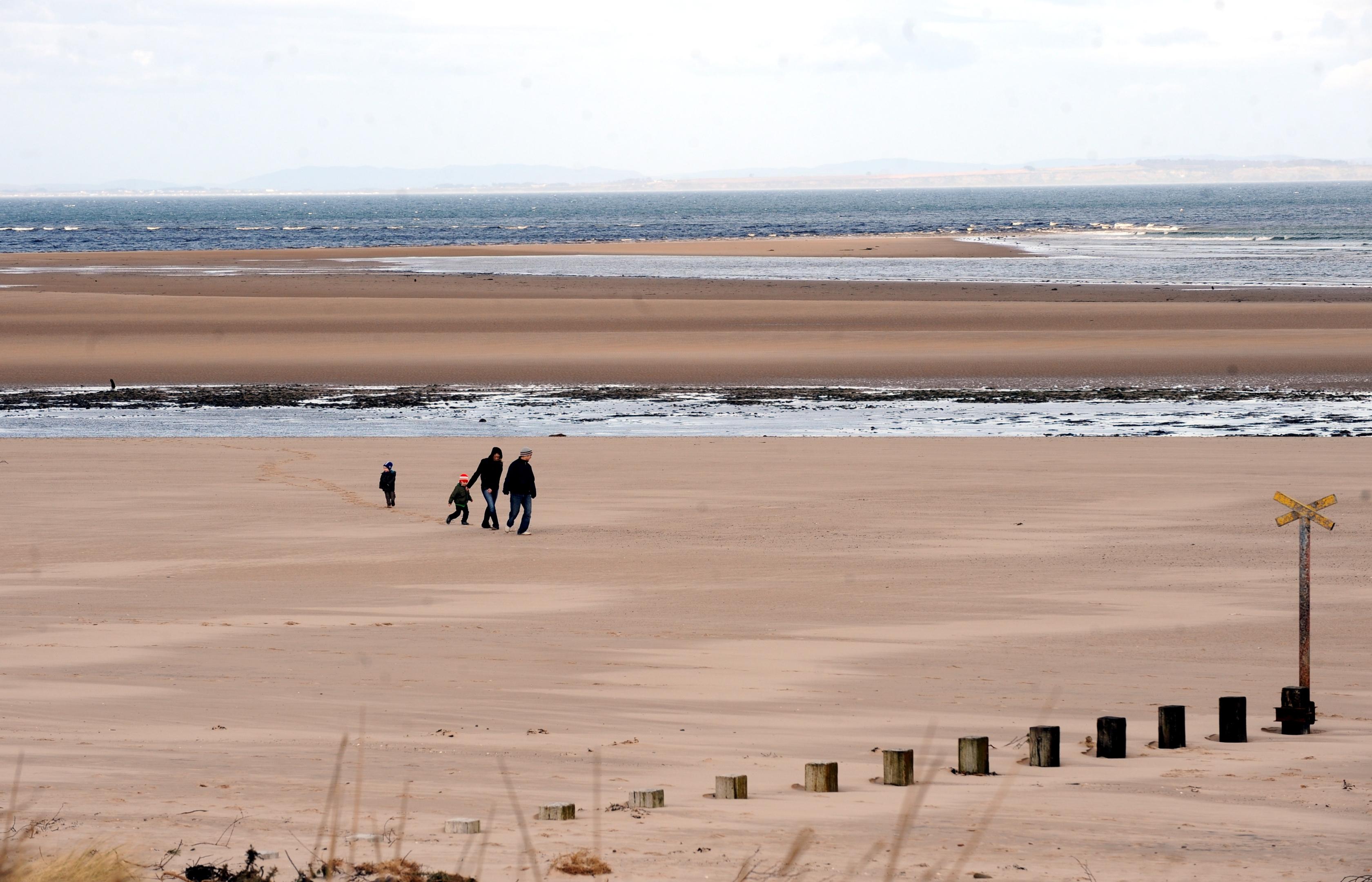Findhorn beach.
