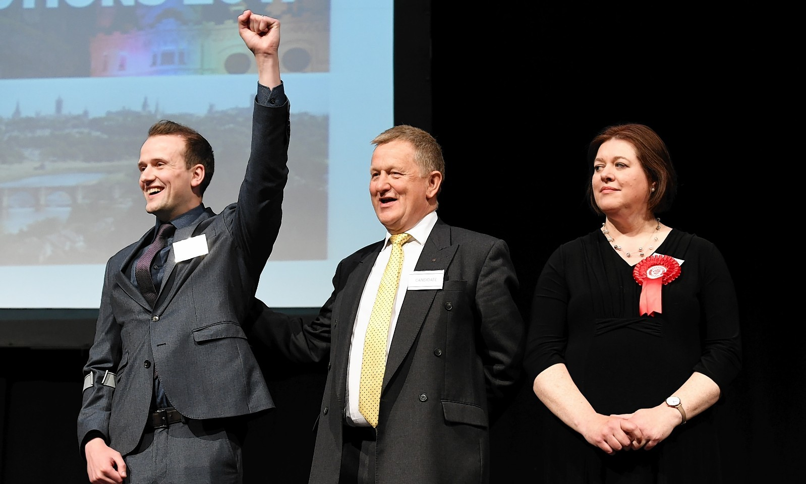 Stephen Flynn, Alex Nicoll and Sarah Duncan, Aberdeen