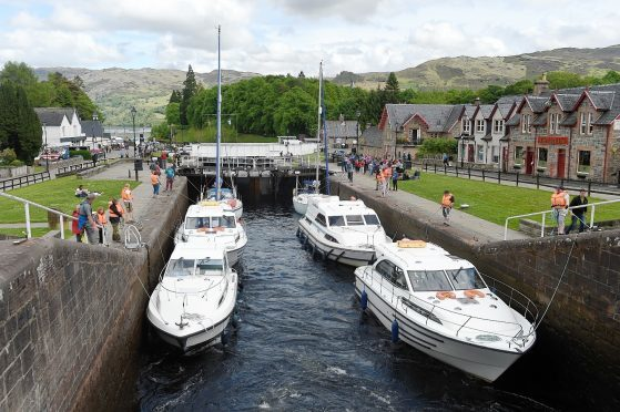 A busy Fort Augustus canal. Picture by Sandy McCook.