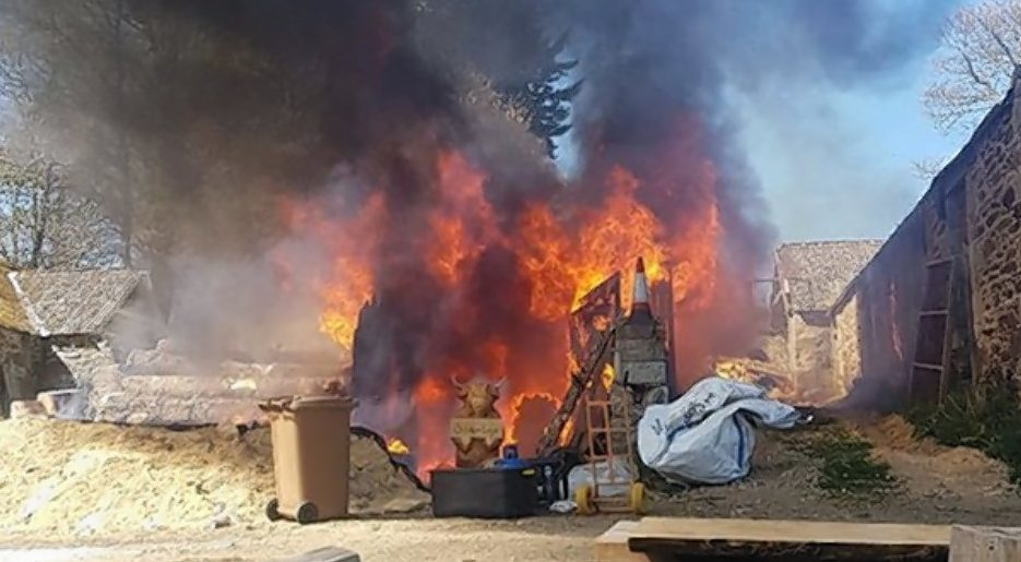 The fire at Garry Shand's workshop