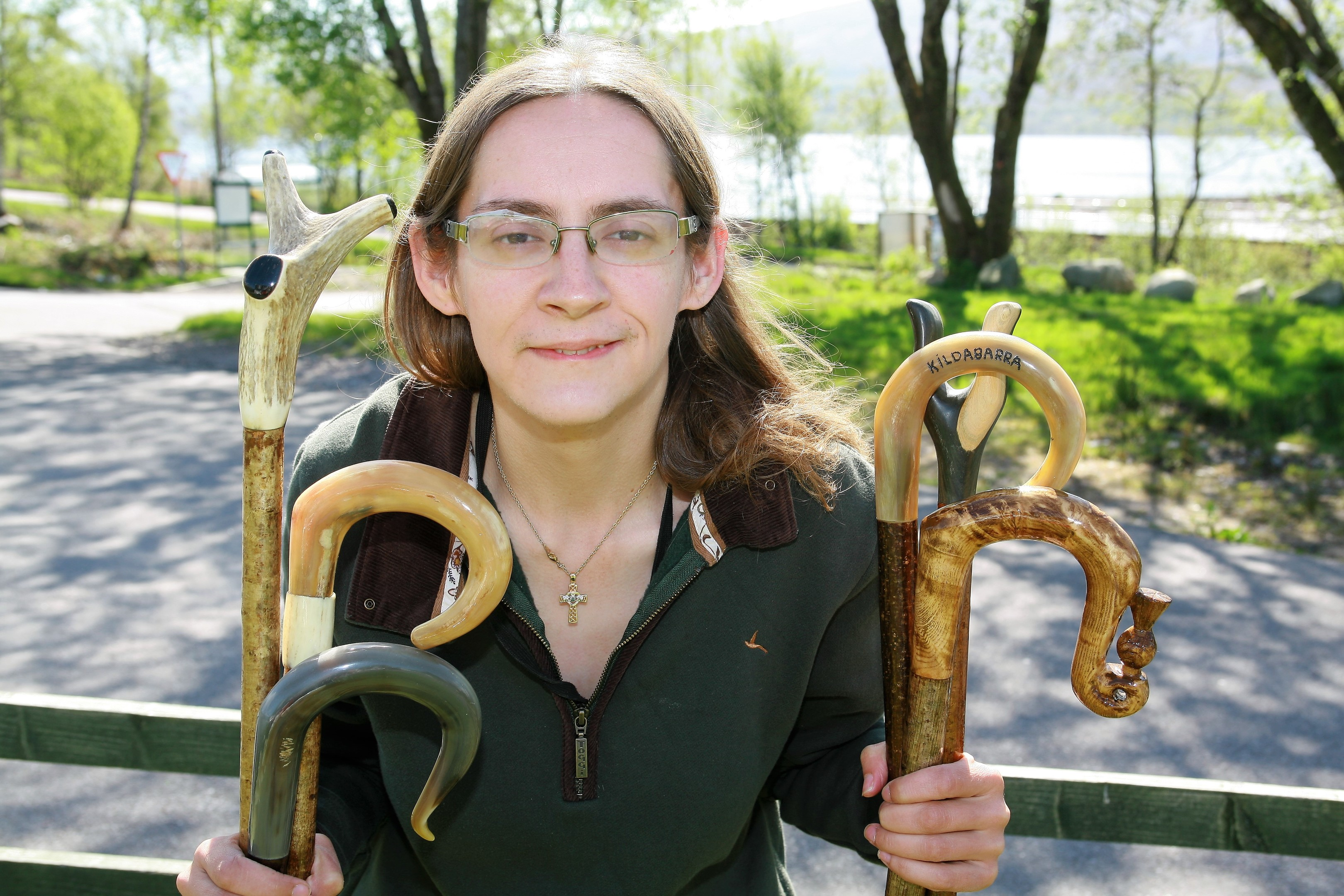 Heather Gibson makes shepherd's crooks and walking sticks - and she even has a royal fan.