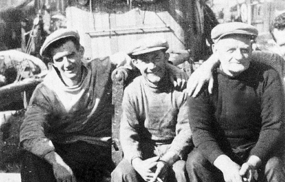 Joe Watt (right) in the 1950s