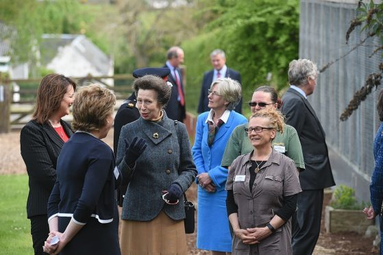 Princess Anne with staff at Cantraybridge College. Pictures by Sandy McCook.