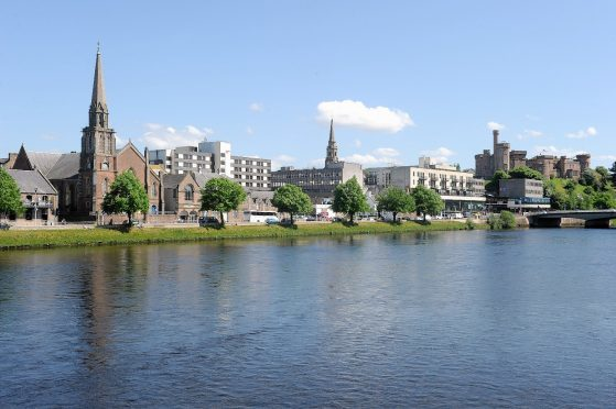 Sunshine over the River Ness. Picture by Sandy McCook.