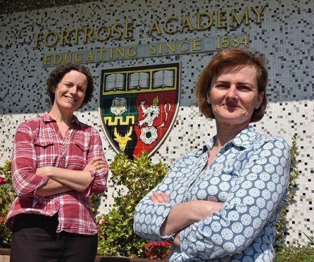 Lisa Fox (left) and Jo-Anne Pugh of Fortrose Academy Parent Council.