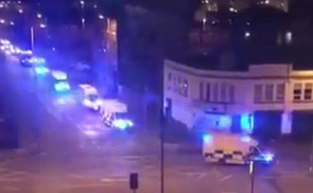 Emergency services descend on the area following reports of an explosion