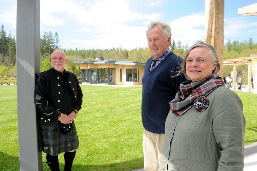 Willie Cameron, Guest Speaker; Director of the Kyle of Sutherland Development Trust Peter Campbell and Helen Houston, Development Manager for the Trust. Picture by Sandy McCook