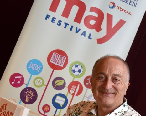 Sir Tony Robinson was among the guest speakers at the May Festival