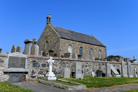 Slains Kirk, at Collieston, of the Ellon Parish, Church of Scotland.   Picture by Kami Thomson