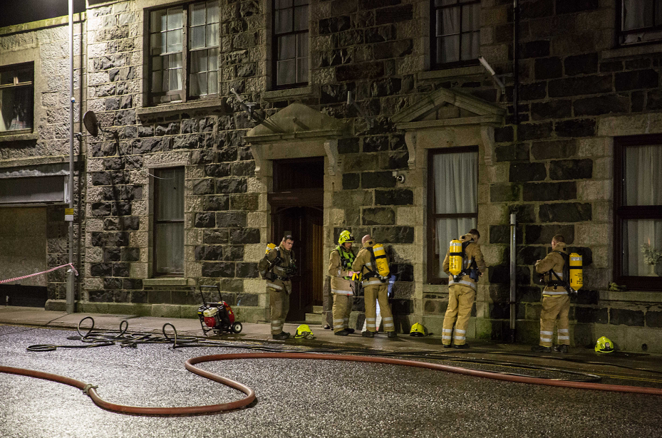Fire crew at the Station Hotel last year.